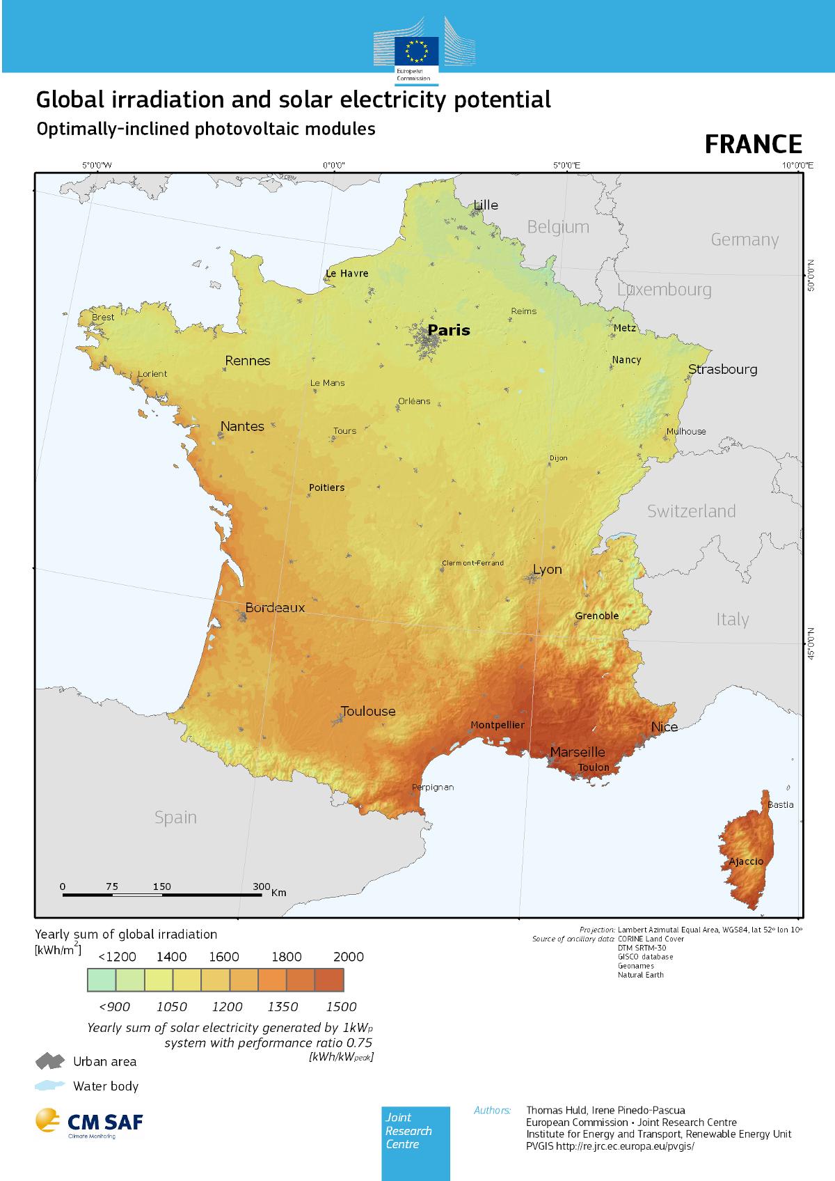 Map Of France 1800.Building An Open Solar Power Map Le Blog D Etalab